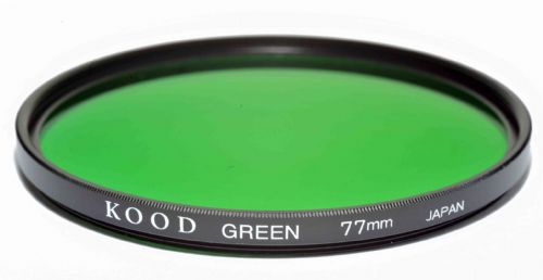 Kood High Quality Optical Glass Green Filter Made in Japan 77mm
